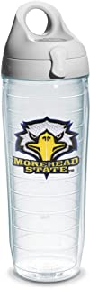 Tervis 1073605 Morehead State Emblem Individual Water Bottle with Gray lid, 24 oz, Clear