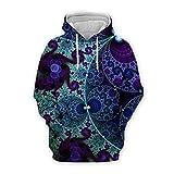 MAITONGG Herren Zip Hoodie Pullover Für Herren Mode Psychedelic Stil Hoodie Kunst 3D Gedruckt Harajuku Sweatshirt Unisex Casual Pullover