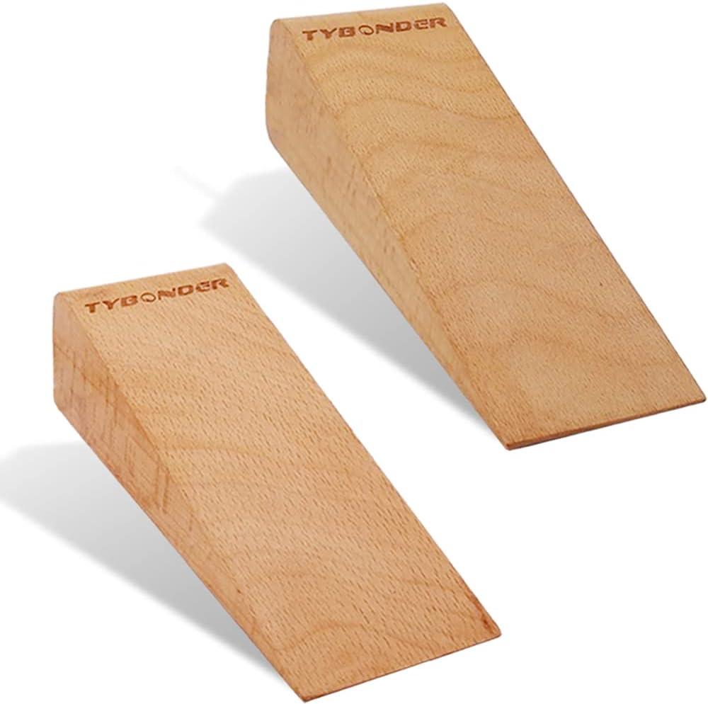 Upmarket Soild Wooden Door Stopper Wedge PCS 2 Non-Sl Base Indianapolis Mall Many popular brands Widen