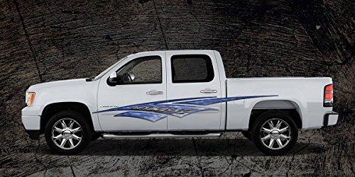 2 Car Truck Trailer Side Decals Graphics Stripes Vinyl #A1B (5ft Long 60