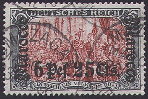 Goldhahn Deutsche Post Marokko Nr. 33A gestempelt geprüft Briefmarken für Sammler