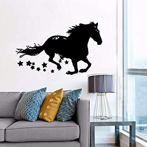 yaonuli Running Horse Muurtattoo's Decoratie Paard tekening Silhouet Vinyl Muursticker afneembaar paard dier behang