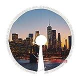 happygoluck1y - Faldas para árbol de Navidad (121,9 cm), diseño de puente de Manhattan de Nueva York