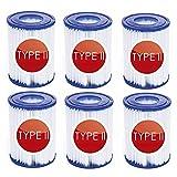GAODA 58094 - Filtro de piscina tipo 2 para Bestway 58094 cartuchos filtrantes tipo II para spa de repuesto para filtro de piscina hinchable (6 unidades)