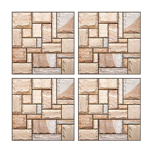 Benedict 3D HD Self-Adhesive Tile Sticker PVC Simulation Brick Thick Waterproof Anti-Collision Wall Stickers