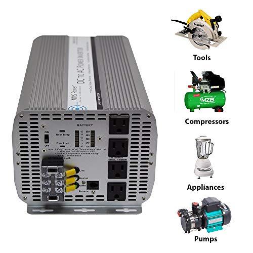 AIMS 5000 Watt 12 Volt DC Power Inverter