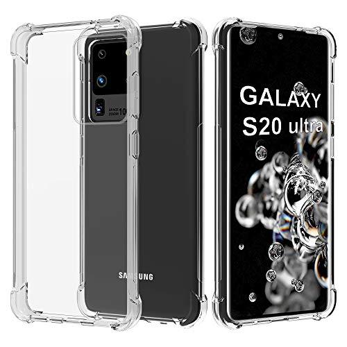 Migeec Funda para Samsung Galaxy S20 Ultra 5G Suave TPU Gel Carcasa Anti-Choques Anti-Arañazos Protección a Bordes y Cámara Premiun Carcasa para Samsung Galaxy S20 Ultra - Transparente