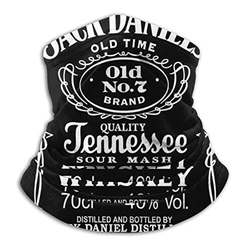 Jackdaniels Logo-Halbmaske, Sturmhaube, Schlauchschal, Gamasche, robuste Kopfbedeckung, Bandana, weiche Halswärmer, Sturmhaube für Motorrad, Radfahren, Laufen, Skifahren, Snowboard