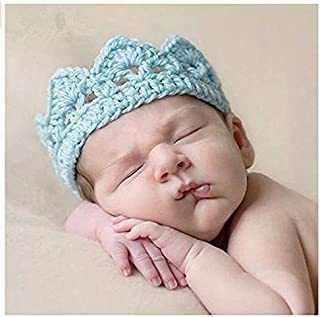 Fotografie Baby Hüte, Isuper Baby Kronen Hut Kostüm Handgestrickter Hut für Mädchen , und Jungenbaby Neugeborene Baby Fotografie Requisiten, Blau