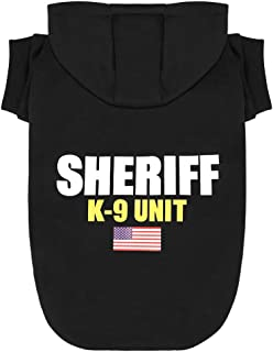 Scheppend Dog Hoodies Sweatshirt Pet Clothes for Small Medium Large Dogs Cats Cotton Puppy Costumes with Sheriff K-9 Unit Patterns Printed