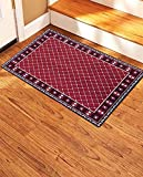 Gloria Stair Non- Slip Landing Mat- Skid Resistant Rubber Back Landing Mat - Beautiful Design Landing Mat for Bottom/Top of Stairs - Floor Mat 20' x 30' (Door mat) (2719-RED)
