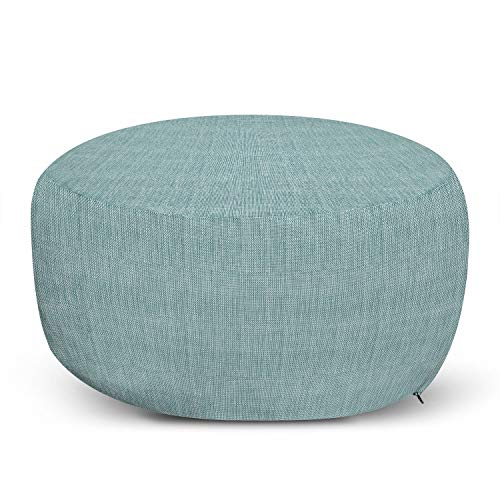 Ambesonne Faux Suede Pouf Cover with Zipper, Digitally Printed Home Textile, Soft Decorative Fabric Unstuffed Case for Living Room Dorm Furniture Case, Mint Green, 30' W X 17.3' L