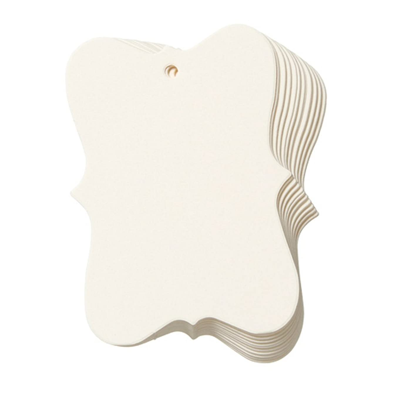 Ivory Fashion Tags by Core'dinations - Small (2in. x 2.75in., 20 pieces/pkg.)