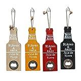 Hosaire 1x Abrebotellas Forma de Cerveza Colgante Conserva Botella de Cerveza Abrelatas Accesorios de La Boda Abridor para Bar Cocina (Color Aleatorio) Size 20 * 6.5CM
