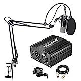 Neewer NW-700 - Microfono Professionale a condensatore kit + 48 V alimentazione Phantom, con caricabatteria e un cavo audio per...