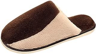 Dermanony Unisex Home Slippers Women's Men's Winter Cotton Slippers Couple Home Slipper Indoor Flat Warm Slippers