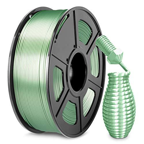 Silk PLA+ Filament 1.75mm, SUNLU Shiny PLA Pro 3D Printer Filament, Dimensional Accuracy +/- 0.02mm, 1kg Spool(2.2lbs), Silky 1.75 PLA Plus,Bronze