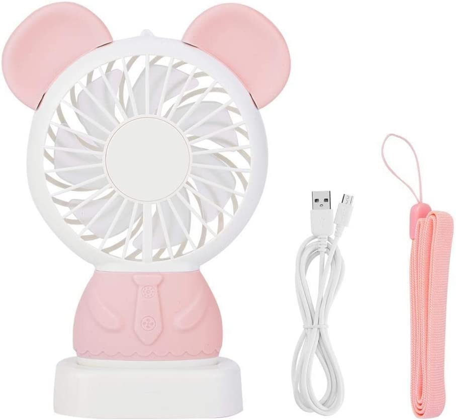 REOUG Selling rankings Mini Cute Bear Ears Rechargeable Handhold Portable USB Year-end gift LED