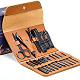AIWOGEP Set manicure Kit pedicure tagliaunghie - Kit manicure professionale da 16 pezzi, kit da...