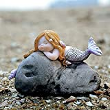 REOOHOUSE Figura de Sirena de Acuario de Hadas en Miniatura, terrario The Sea Baby Mermaid para estantería, Maceta, pecera B 7 x 5 x 5 cm (3 x 2 x 2 Pulgadas) (Color : F, Size : 9x5x9cm(4x2x4inch))