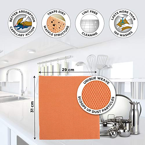 Scotch-Brite Microfiber Kitchen Wipe (Set of 1, Orange)
