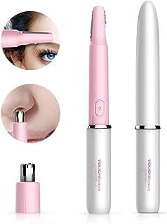 TOUCHBeauty elektrische wenkbrauw trimmer, dameshaar trimmer, neus-oortrimmer, 2 in 1 haartrimmer voor dames en heren, pij...