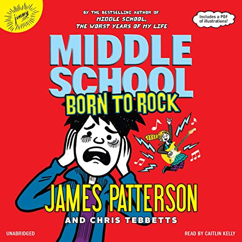 Middle School: Born to Rock audiobook cover art