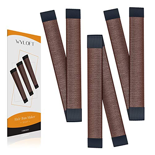 Wyloft Hair Bun Maker French Twist Hair Fold Wrap Snap (3 Brown)