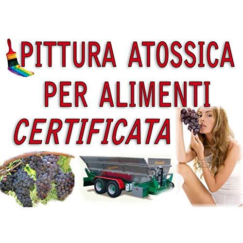 SMALTO VERNICE EPOSSIDICO USO ALIMENTARE BIANCO KG 5 alimenti CERTIFICATO acqua olio vino Pittura serbatoi ferro vasche 271004+272012