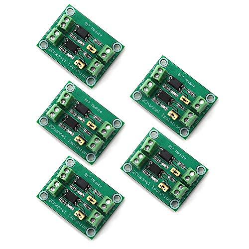 DollaTek 5Pcs Optoacoplador 817 Módulo de conmutación de Control de Voltaje de Placa de Aislamiento de Voltaje de 2 vías