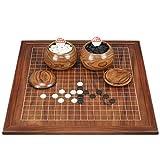 ZFF Juegos Go, Tablero de ajedrez de Madera de Doble Cara Juego de ajedrez Go for niños Principiantes Adultos (tamaño: 2 cm)