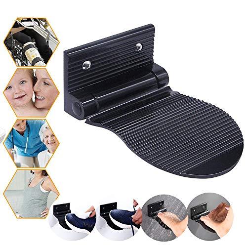 Dusch-Fußstütze Fußablage klappbar Aluminium rutschfeste Dusche Fuß Unterstützung für Fusspflege Rasur Badewanne Badezimmer, an der Wand