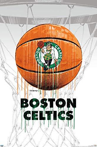 Trends International NBA Boston Celtics-Drip Ball 20 Wall Poster, 22.375 in x 34 in, Unframed Version