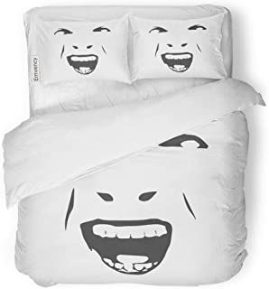 Tarolo Bedding Duvet Cover Set Demonic Ugly Face Devil Scream Character Demon Monster Screaming Open Mouth As Front View Horror 3 Piece Twin 68
