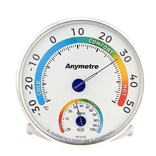 Termometro analogico con igrometro per interni ed esterni, adatto per la stanzetta dei bambini e le serre
