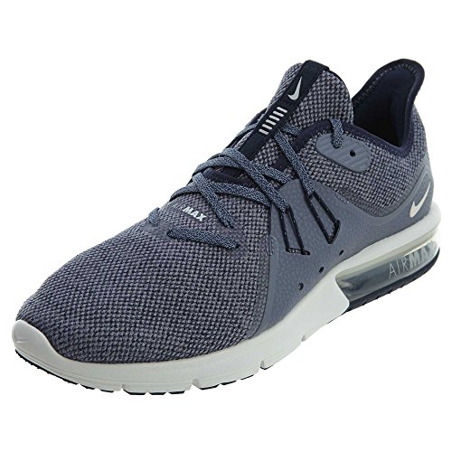 Nike Men's Air Max Sequent 3 Running Shoes (Obsidian/Summit White, 9.5)