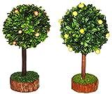 Unbekannt 2 TLG. Set: Zitronenbaum + Orangenbaum - Miniatur 13 cm / Maßstab 1:12 - Baum Orangen -...