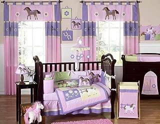 Pretty Pony Horse Western Baby Girl Bedding 9pc Crib Set by Jojo Designs