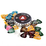 Donner Celluloid Guitar Picks 48 Pieces Includes 4 Thickness, Thin, Medium, Heavy & Extra Heavy Gauges with Tin Box Variety Pack Picks for Bass Electric Acoustic Guitars
