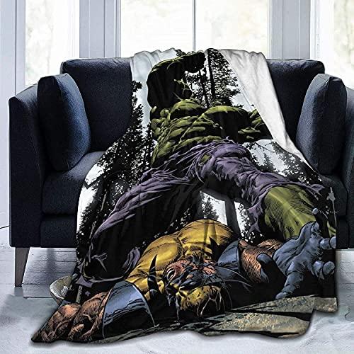 The Incredible Hulk – Manta acogedora y valiente Hulk, tela suave y cómoda, no te dejará de amar. (Hulk1, 130 x 150 cm(51 x 59 pulgadas).