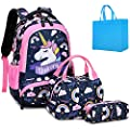 Mochila Unicornio Niña Mochila Infantil niña Mochilas Escolares Mochila Estudiantes Bolso para Chicas para La Escuela,Viajes,Intemperie (Rosa)