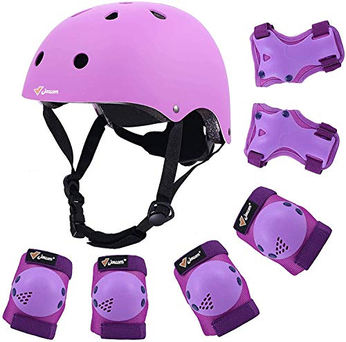 Joncom Kids Bike Helmet, Toddler Helmet for Ages 3-8 Boys Girls with Sports Protective Gear Set Knee Elbow Wrist Pads for Skateboard Cycling Scooter