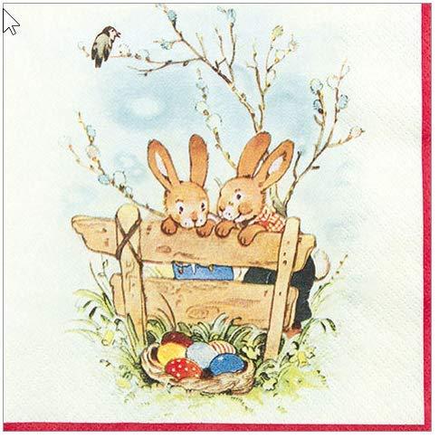 20 Servietten Bunny friends – Hasenfreundschaft / Ostern 33x33cm