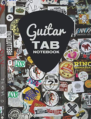 Guitar Tab Notebook: for 6 string guitar 120 pages 8.5x11 blank guitar tab paper for guitarists, teachers, students and punk rock fans