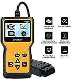 URAQT OBD2 Auto Scanner Diagnostic, OBDII Scanner Lettore di Codice Attrezzo di Esplorazione, OBD2 Code Reader Lettura Leggere e Chiari Codici di Errore OBD per Auto Veicolo