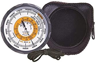 Sun Company Altimeter 202 - Battery-Free Altimeter and Barometer | Weather-Trend Indicator with Soft Leather Case | Reads Altitude from 0 to 15,000 Feet