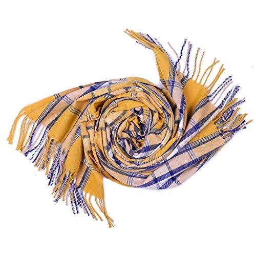 Alvnd unisex geruit deken in over Cozy sjaal -mode winterdeken sjaal zachte warme dikke sjaal verpakking chunky grote sjaal (kleur optioneel) 180 * 65CM C