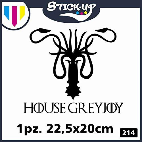 Stick-up Pegatina de Juego de Tronos – El Trono de Espadas – Funda Greyjoy Logo – 1 Unidad – Ordenador portátil Macbook Adhesivo Negro