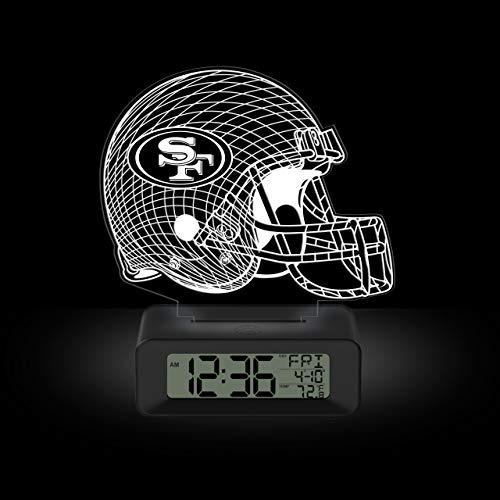 NFL Team Logo LED Illusion Alarm Clock by Game Time - San Francisco 49ers