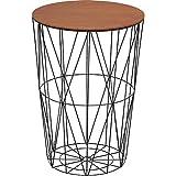 アイリスプラザ ローテーブル スチール ウォルナット 幅40×奥行40×高さ58㎝ WTL-4058